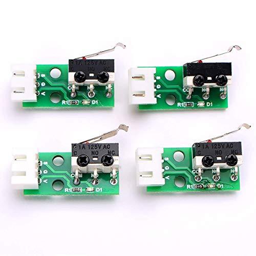 Toaiot Accesorios de impresora 3D Interruptor de fin de carrera X Y Z eje final de carrera, módulo de conmutación para Mega i3 Mega S – 4 piezas