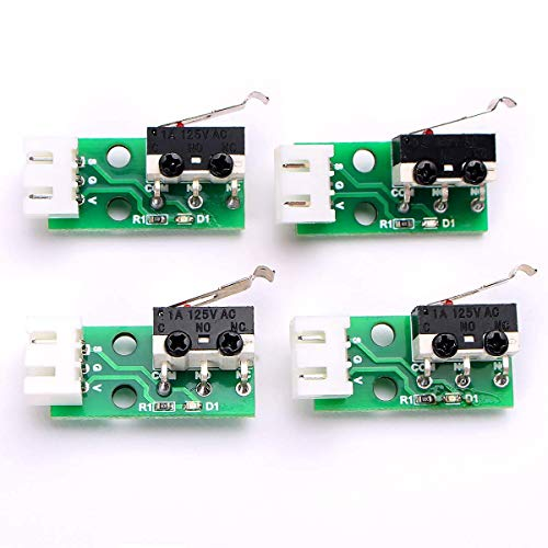 Toaiot 3D Printer Accessories Limit Switch X Y Z Axis Endstops Switch Module for Mega i3 Mega S - 4Pcs