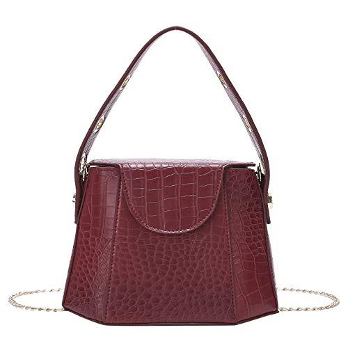Bolso De Hombro De Moda Bolso Cruzado De Cuero De La Pu Ocean Tote Travel Travel Business Bucket Bag 1 X Bolso Wine Red