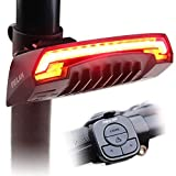 MEILAN X5 Smart Bike Tail Light with Turn Signals and Automatic Brake Light Wireless Remote Control Bike Rear Light Back USB Rechargeable Safety Warning Cycling Light Fits on Any Road Bicycle