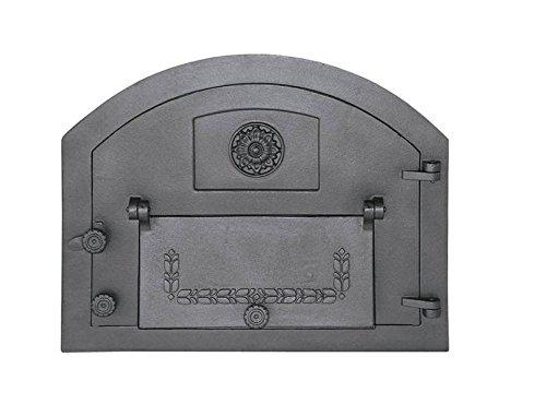 Backofentür Ofentür Pizzaofentür Holzbackofentür Steinbackofentür aus Gusseisen | Außenmaße: 610x480 mm | Öffnungsrichtung: rechts