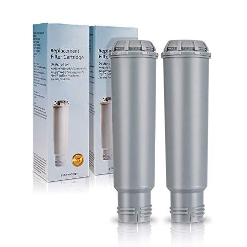 Wasserfilter für Krups Claris F088 Kaffeemaschine. Homegoo Filter Kompatibel mit Melitta, Nivona NIRF-700, Bosch, AEG, Siemens Kaffeemaschine (2 Packungen)
