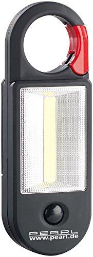 bester der welt PEARL LED Arbeitslampe: AL-325 Arbeitslampe mit COB-LED, Karabiner, Magnet, 4W, 320lm… 2021