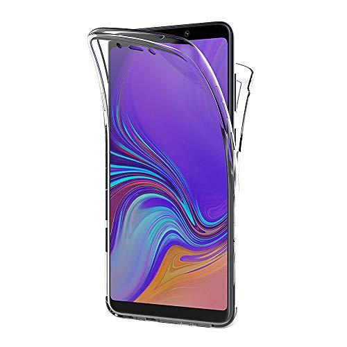 AICEK Compatible Samsung Galaxy A9 2018 Hülle, 360°Full Body Transparent Silikon Schutzhülle für Samsung A9 2018 Hülle Durchsichtige TPU Bumper Galaxy A9 2018 Handyhülle (6,3 Zoll)