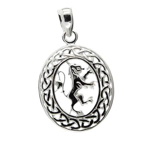 Lion Rampant Medallion Celtic Knot Mens Chain Pendant By Keith Jack