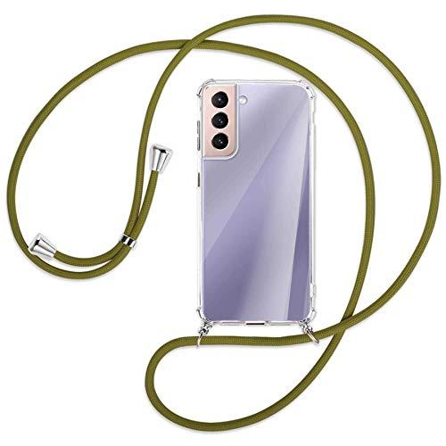 mtb more energy Collar Smartphone para Samsung Galaxy S21 5G (SM-G991, 6.2'') - Caqui - Funda Protectora ponible - Carcasa Anti Shock con Cuerda Correa