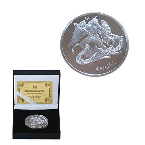 Großbritannien,Erzengel,Drachen,Gedenkmünzen,Krieger,Glücklich,Dekoration,Schön,Versilbert,Hochwertige Herausforderungsmünze/Silber/A