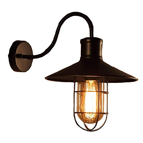 YANQING Duurzame Wandlamp, Vintage Industriële Zwarte Metalen Wandlamp Retro Wandschans Verlichting Wandlampen Woonkamer/Slaapkamer A++ (Kleur : A), Kleur:A