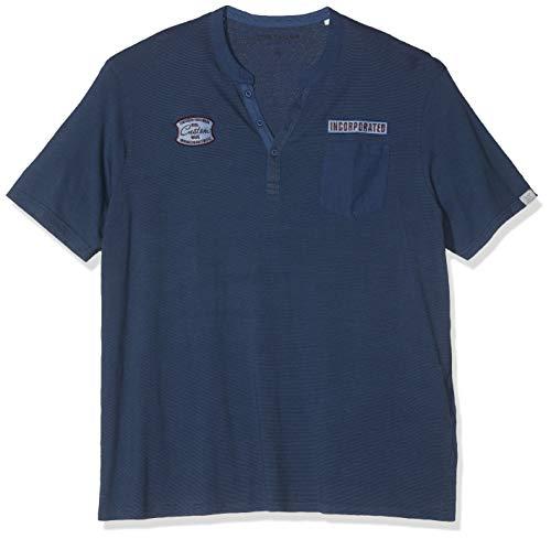 Tom Tailor Casual Talla Grande Camiseta, Azul (Dark Blue Overdye), 4XL para...