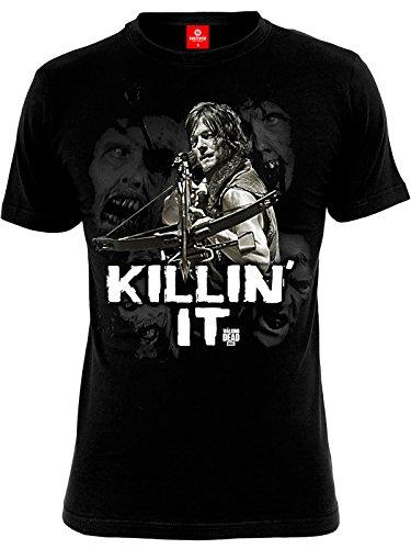 The Walking Dead Killin IT Uomini Maglietta Nero