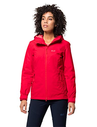 Jack Wolfskin Frosty Morning Giacca, Donna, Clear Red, XL