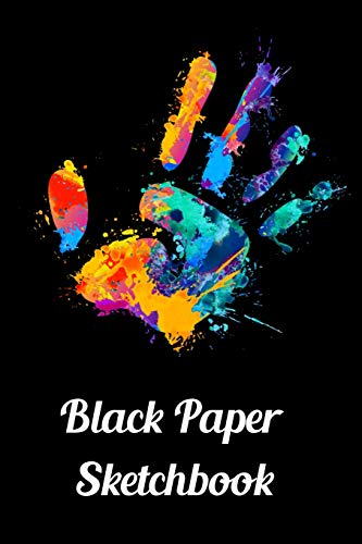 Black Paper Sketchbook: 120 Pages of Black Blank Paper for Doodling and Drawing with White Ink, Gel Pens, Chalk Markers for Spirograph & More (Spirograph Paper Pad)