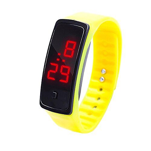 OHQ Reloj LED Reloj De Pulsera con Pantalla Digital Reloj para NiñOs Silicona Reloj Deportivo Pulsera Reloj Inteligente Marcar El Reloj Reloj ElectróNico