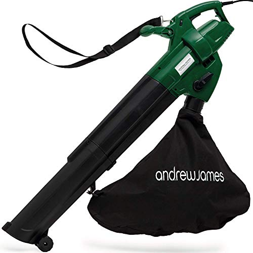 Andrew James Leaf Blower and Vacuum Mulcher | Electric 4KG Lightweight Garden Tool with 45L Shredder...