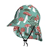 Lsjuee Setas Doodle Style - Sombrero de sol para bebé, sombrero de sol para niños, transpirable, color negro