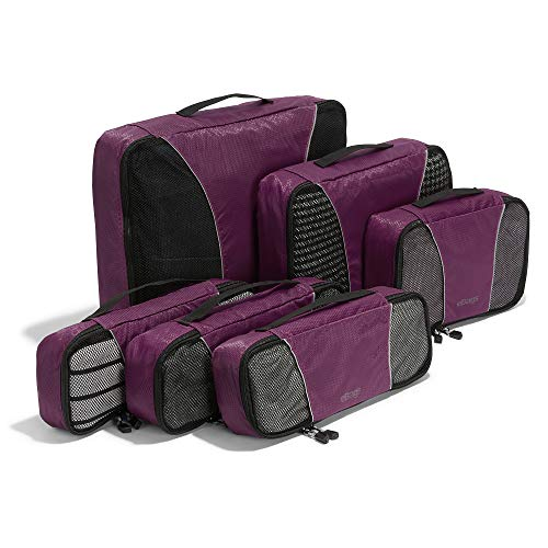 eBags Classic 6pc Packing Cubes (Eggplant)