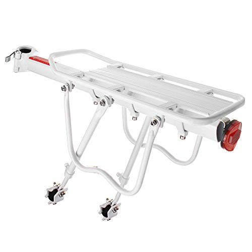 Zhicaikeji Soporte De Pared para Bicicleta Moto Porta Equipaje Reflector Blanco De...