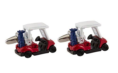 Knighthood Herren Golf Cart Ball Sport Club Auto Manschettenknöpfe rot & blau