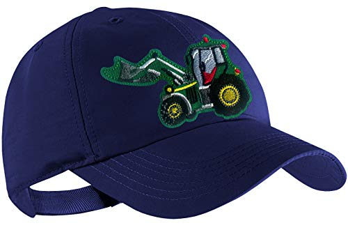 Blackshirt Company Traktor Schildmütze Kinder Base Cap Schlepper mit Frontlader Farbe Blau