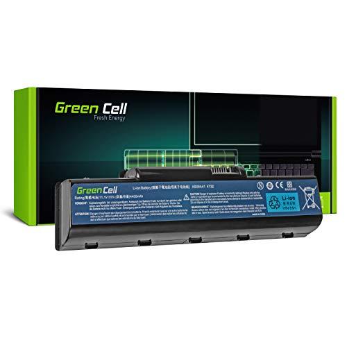 Green Cell® Standard Serie AS09A31 AS09A41 AS09A51 AS09A71 Batería para Acer/eMachines/Packard Bell/Gateway Ordenador (6 Celdas 4400mAh 11.1V Negro)
