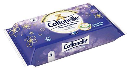 Cottonelle Feuchte Toilettentücher mein Spa Erlebnis mit Grüner Tee und Jasmin Extrakten (42 Tücher), 1er Pack (1 x 42 Stück)