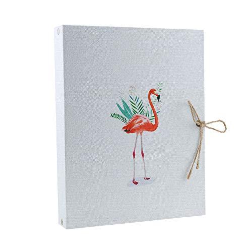 VEESUN Álbum de Fotos, Cubierta de Lino Flamenco Libro de Recuerdos Libro de fotografías Libro de Recuerdos Familiares Navidad Día de San Valentín Regalos de cumpleaños Presente único