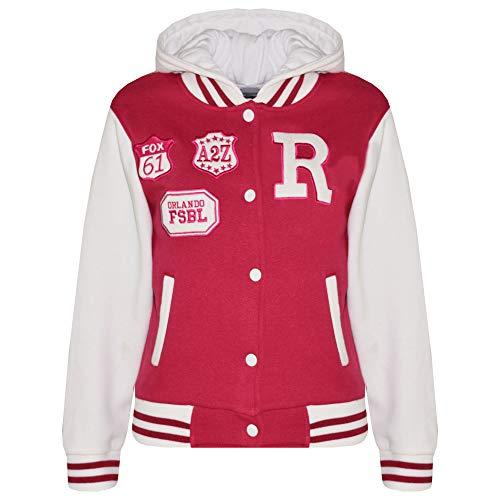 A2Z 4 Kids Unisex Kinder R Fashion Aufdruck - Baseball Jacket Pink 3-4