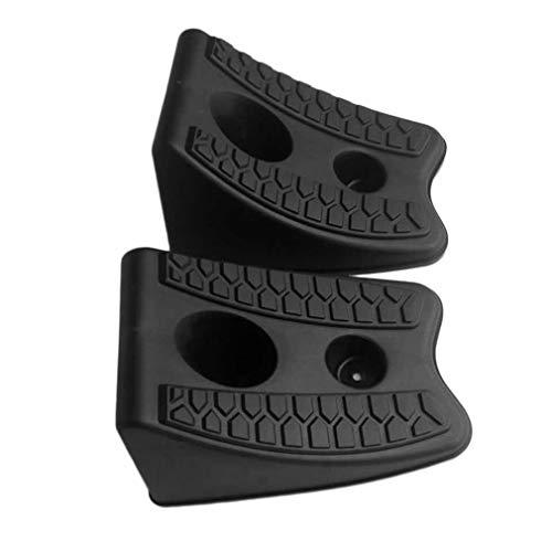 2pcs / Set Car Auto Bloque Antideslizante de Goma para neumáticos de automóvil Tope de Deslizamiento Control de alineación de Ruedas Bloque de Soporte de neumáticos Pad (Negro)
