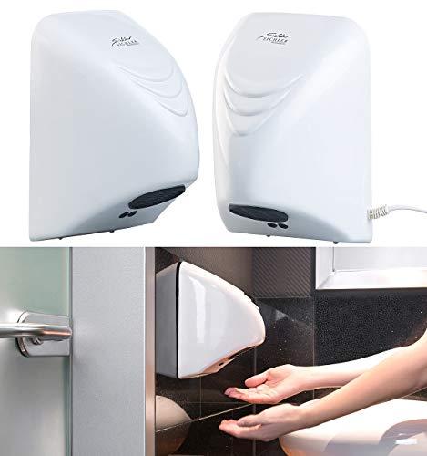 Sichler Haushaltsgeräte Hand-Trocknergerät: 2er-Set automatische elektrischer Händetrockner zur Wandmontage (Vollautomatische Händetrockner)