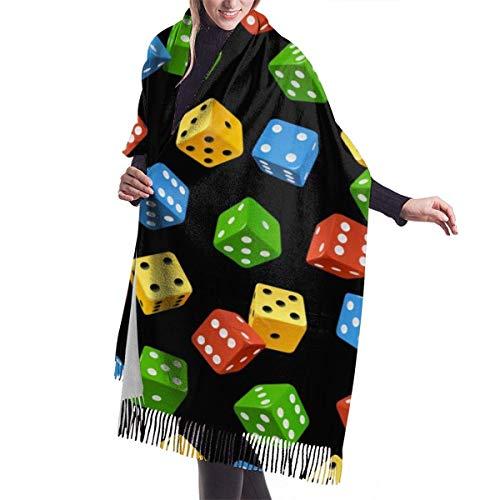 Tengyuntong Bufanda de mantón Mujer Chales para, Bufanda suave del invierno de la cachemira de la bufanda del mantón de los dados coloridos para los hombres de las mujeres