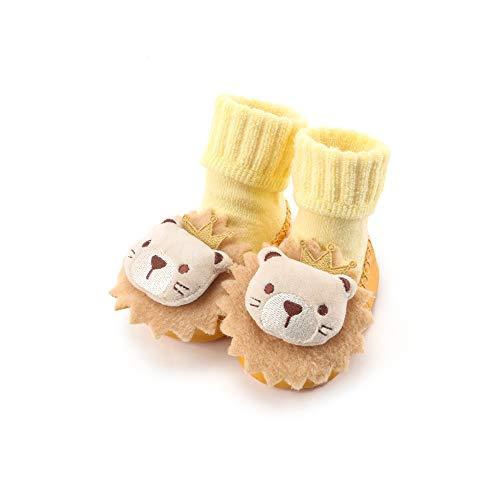 Calzado De Calcetines para Bebés Y Niñas, Zapatillas De Piso Antideslizantes para 0-24 Meses, Botas De Invierno De Lana Suave Y Cálida En El Interior Y Exterior,6,M