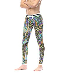 printed long johns modern pattern