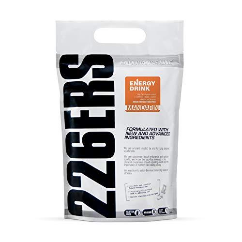 226ERS Energy Drink, Bebida Energética para Competiciones a base de Hidratos de carbono, con Aminoácidos, Vitaminas y Minerales, Mandarina - 1000 gr
