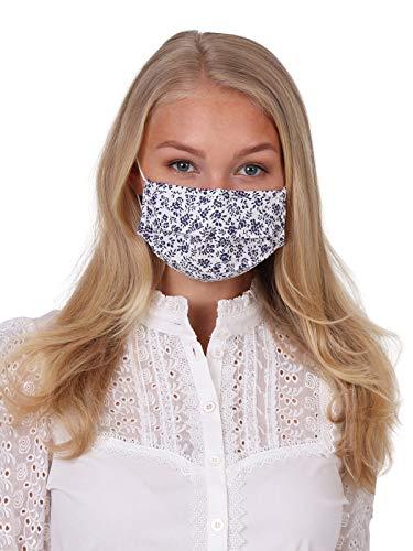 Krüger Waschbare Mund-Nasen-Maske Behelfsmaske aus 100% Baumwolle als ideale Stoff-Mundbedeckung, Art.-Nr. 001212-0-0108, OneSize, weiß