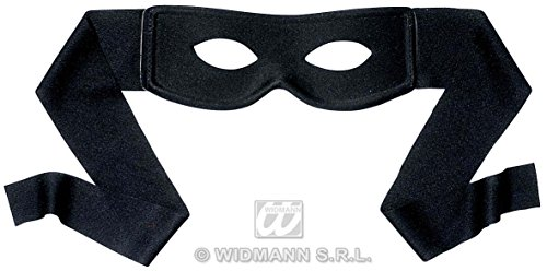One Size Black Bandits Eye Mask Eyemask Zorro Style Fancy Dress by Home & Leisure Online
