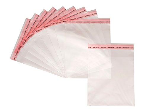 100 Bolsas grandes de celofán transparente de polietileno autoadhesivas, bolsa de embalaje transparente de plástico 9cm x 13cm