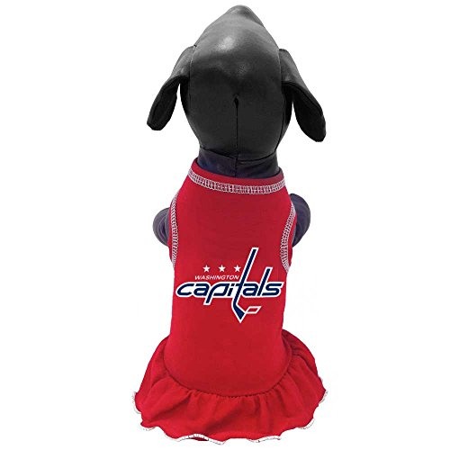 NHL Washington Capitals Dog Cheerleader Dress, Medium, Red