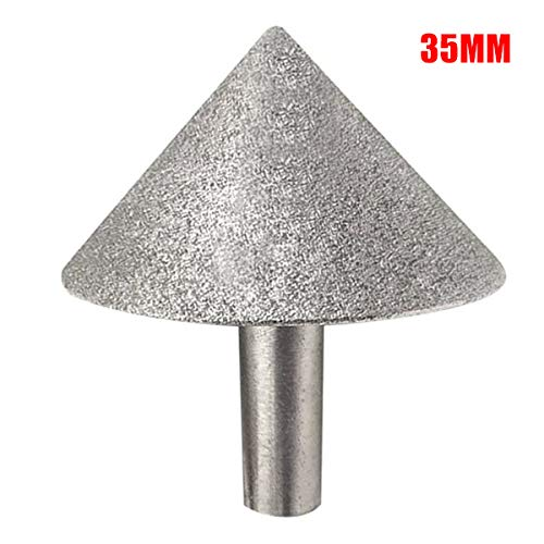 Best Price Xucus Glass Tile Chamfer 90-degree Conical Umbrella Grinding Head Hand Tool DiamondGrindi...