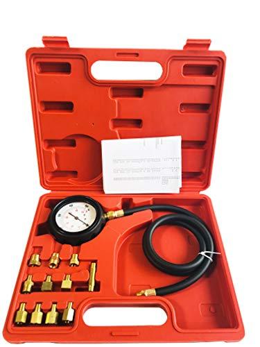 GooMeng 12 Pieces Engine Oil Pressure Tester Gauge TU-11A Diagnostic Test Kit 0-500 psi (Automatic Transmission Pressure Tester)