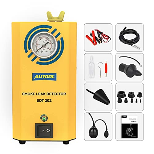 AUTOOL 12V Automotive Fuel Leak Detectors, Smoke Leak...