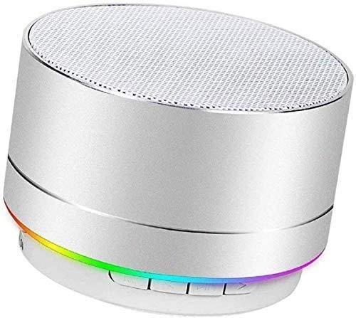 Altavoz Bluetooth portátil con Bajos potentes, Rango de conexión Bluetooth y guía de Voz para Android iOS PC y Otros-H1