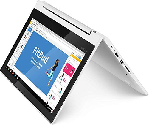 Lenovo Chromebook C330 2-in-1 Convertible Laptop, 11.6-Inch HD Display, MediaTek MT8173C Processor, 4GB LPDDR3, 64GB eMMC, Chrome OS, Blizzard White, 81HY000YCF