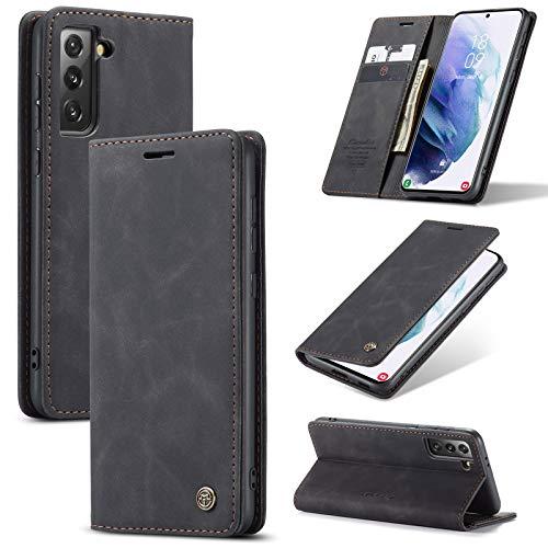 Sudoxx Hülle Für Samsung Galaxy S21+ Plus (5G) Schwarz Schutzhülle Magnet Etui Cover Hülle Kanten Handyhülle Handytasche Weich Robust