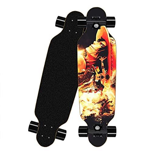 FWAHB Tablero Completo del patineta para una Pieza: Portgas.D.Ace, Siete-Capa Skateboard a través de Freestyle Shortboard, Mini Longboard Completo, Adecuado para Adolescentes