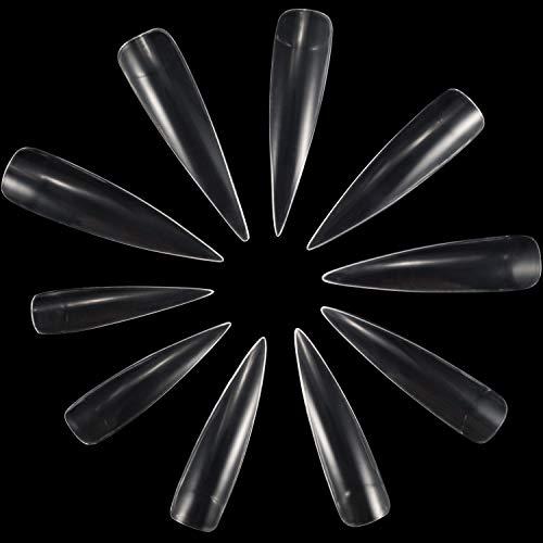 ANEWISH 500 Stück Durchsichtig Künstliche Fingernägel Falsche-Fingernägel Kunstnagel Nagel Fake Nägel Nagelspitzen für DIY-Nagelkunst und Nagelstudios, 10 Größen