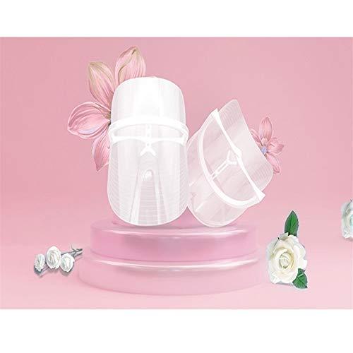 QIYUE Neue 3 Farben LED Masque Beauty Skin Photon Verjüngung Gesicht Pack Falten Akne-Haut Straffen Werkzeug Gesichts Maschine führte Maske (Farbe : White)