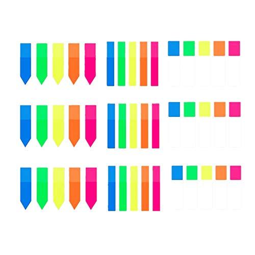 Notas Adhesivas Índices, Marcadores Adhesivos 900 piezas Colores Escribir Marcador de Página para Estudiantes Trabajadores Administrador de la Biblioteca 5colores 3 estilo