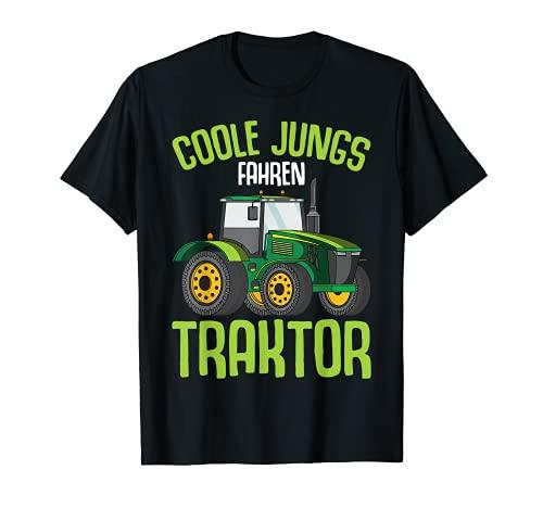 Coole Jungs fahren Traktor Trecker Kinder Junge T-Shirt
