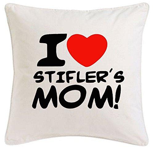 Reifen-Markt Kissenbezug 40x40cm I Love Heart Stifler´s Mom American Pie Stifmeist aus Mikrofaser geschmackvolle Dekoration für jedes Wohnzimmer oder Schlafzimmer