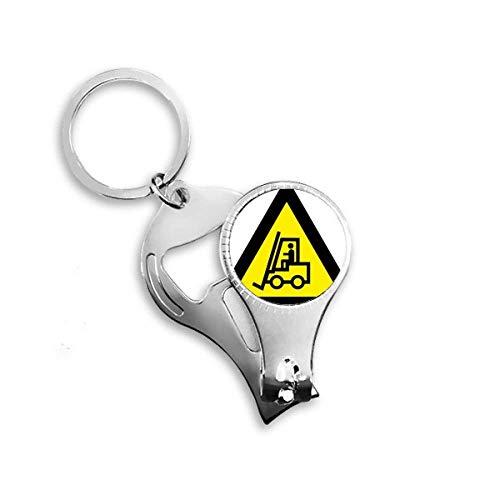 Símbolo de advertencia amarillo negro triángulo elevador...